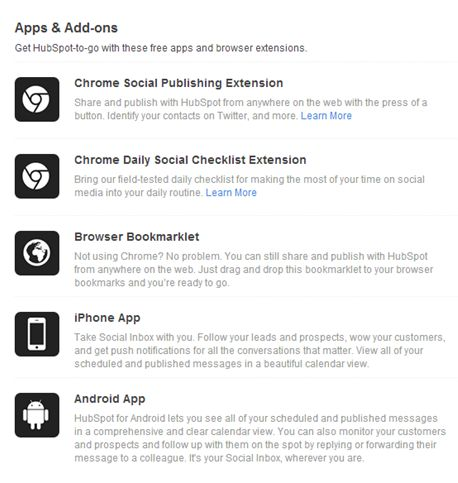 Social Inbox Apps and Add-ons