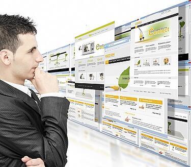 Website design scrolling bubble