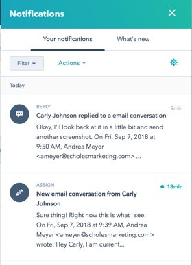 Determine the type of notifications you prefer in HubSpot Conversations