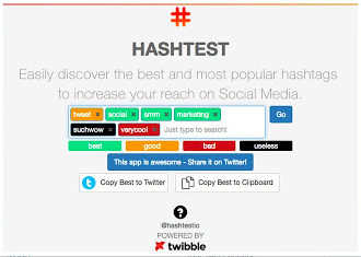 HashTest helps marketers find the right hashtags