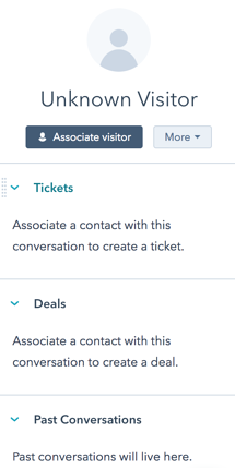 Associate HubSpot records within the Conversations window