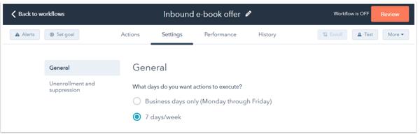HubSpot workflow enrollment