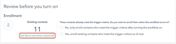 HubSpot Workflow enrollment criteria