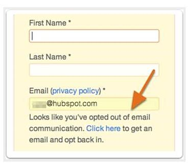 HubSpot resubscription email feature on forms