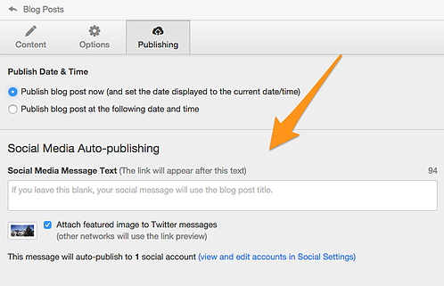HubSpot customized blog auto-publishing feature